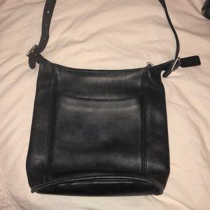 90s vintage coach black leather purse